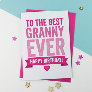 Birthday Card For Granny, Nanny Or Nanna - birthday cards