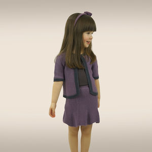 Handmade Bamboo Girls Cardigan And Skirt Set - clothing