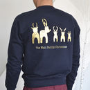Personalised Reindeer Bottoms Christmas Jumper