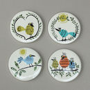 Ceramic Bird Coasters
