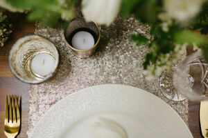 Sequin Table Runner Choose From 15 Colours
