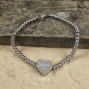 Personalised Stainless Steel Charm Bracelet