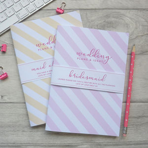Bridesmaid Notebook
