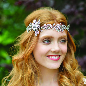 Floral Enamelled Hair Vine Tiara - wedding fashion
