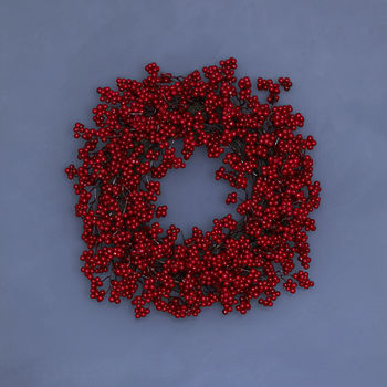 Red Berries Door Wreath