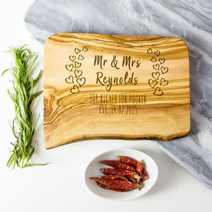 Personalised 'Couples' Chopping/Cheese Board - chopping boards
