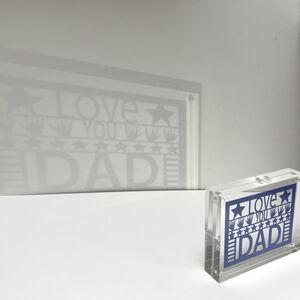 Fathers Day Shadow Block