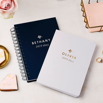 Personalised Traditional 2019 Weekly Diary