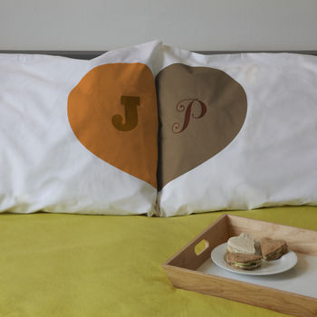 Romantic Personalised Heart Union Pillowcases
