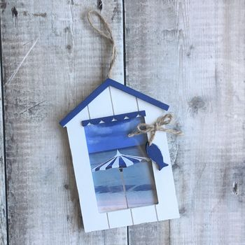 Beach Hut Nautical Photo Frame