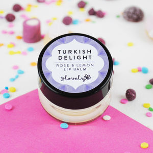 'Turkish Delight' Rose And Lemon Lip Balm - gifts for friends