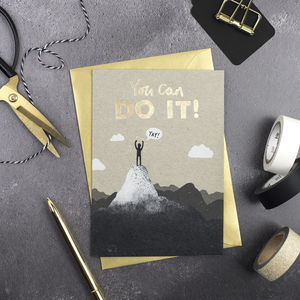 You Can Do It Card - good luck cards