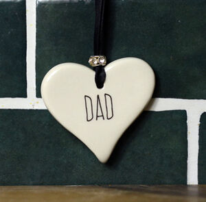 Dad Ceramic Heart