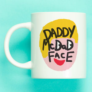 Illustrated Daddy Mc Dad Face Mug