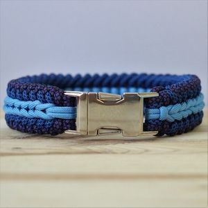 Personalised Arrowhead Weave Paracord Dog Collar