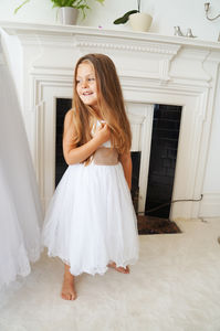 Louisa ~ Brilliant White Flower Girl | First Communion