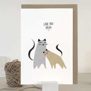 Mothers Day Card For Cat Lover
