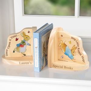 Personalised Beatrix Potter Bookends: New Baby Gift - children's room accessories