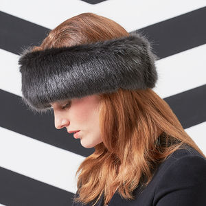 Faux Fur Huffs - hats & gloves