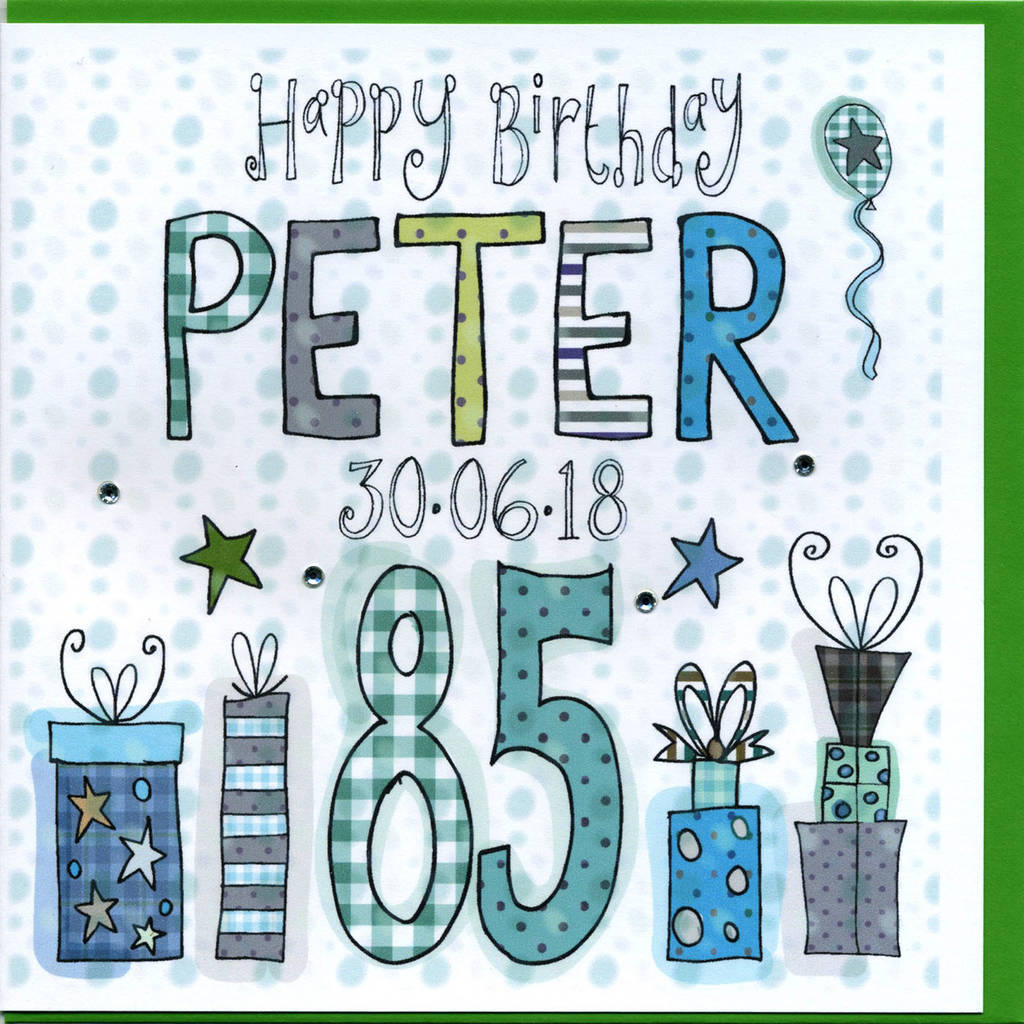 85th Birthday Card By Claire Sowden Design