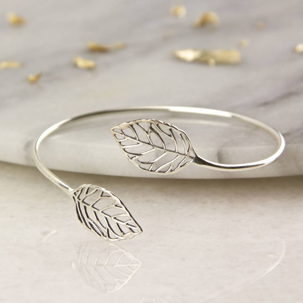 silver charm sterling bangles bracelet bangle en open