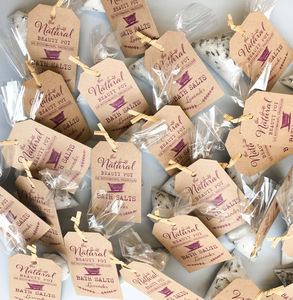Organic Bath Salts Wedding Favours 20, 50, 100