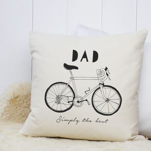 Personalised 'Hand Drawn Hobby' Cushion - gifts for cyclists