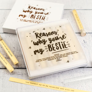 Personalised Reasons Why You're My Bestie Keepsake - gifts for friends