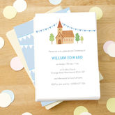 Personalised Boy's Christening Invitations - christening