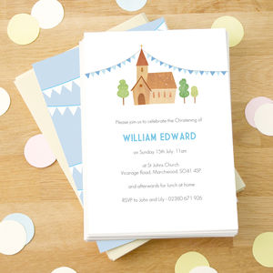Personalised Boy's Christening Invitations - occasion