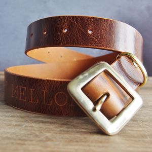 Personalised Name Leather Belt - mens