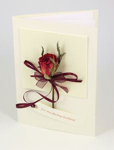 Single Rose Romance Card