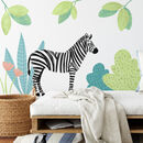Jungle Zebra Fabric Wall Sticker Set