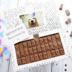 Personalised Chocolate Card - winter sale