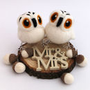 Mini Owl Wedding Cake Topper