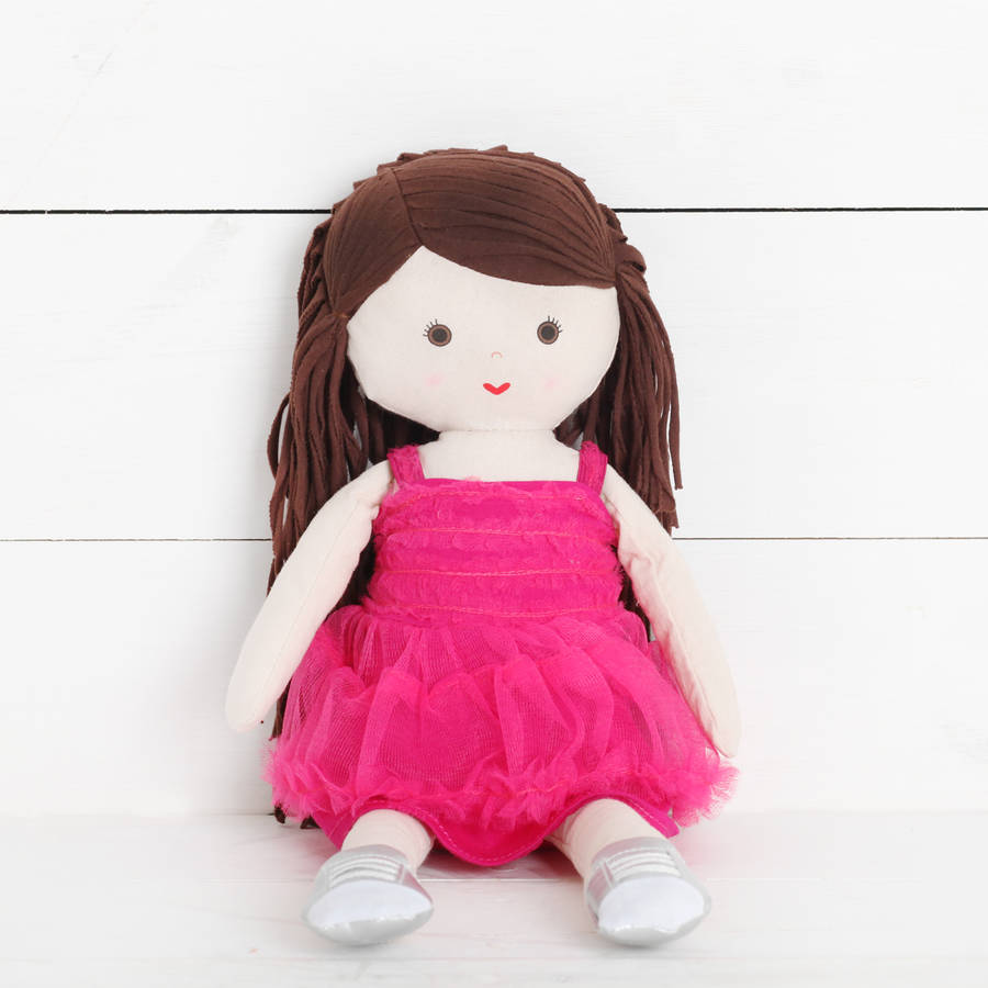 Girls Cotton Rag Dolls Three Designs By Red Berry Apple