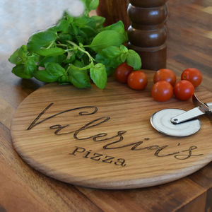 Oak Name Pizza Board Paddle - foodie gifts