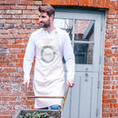 Personalised Eucalyptus Wreath Cotton Apron