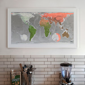 World map wall sticker destination markers by the binary box world wall map gumiabroncs Image collections