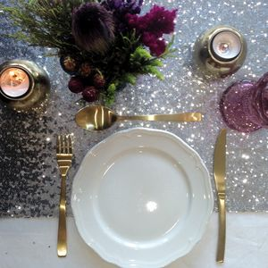 Sequin Table Runner - dining room