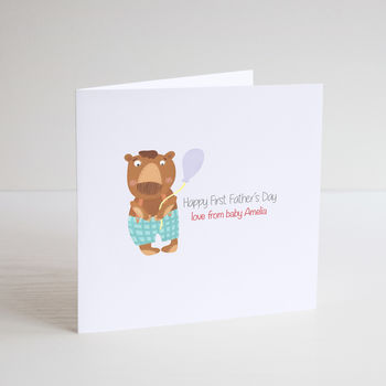 Little Bear Fathers Day Card