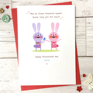 Personalised Love Song Valentines Day Card