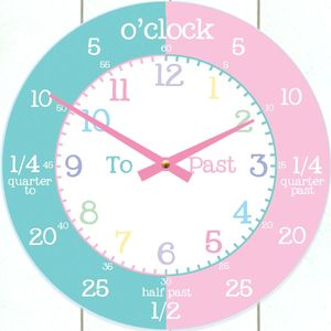 Childrens Time Teaching Wall Clock - children's decorative accessories