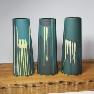 Handmade Green 'Jungle' Stem Vase
