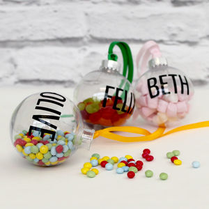 Personalised Fill Me Up Bauble - decoration making kits