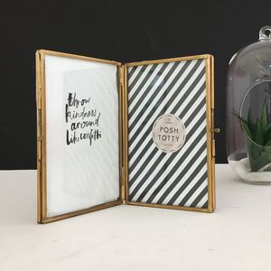 Double Sided Brass Photo Frame