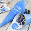 Watercolour Personalised Wedding Cones With Confetti
