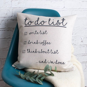 'To Do List' Cushion Cover