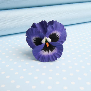 Pansy Brooch In A Choice Of Natural Colours - pins & brooches