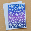 Sky Of Stars Hand Screenprinted Card